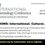 International Germanic Genealogical Conference – IGGP July 28-29-30, 2017